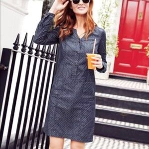Boden Denim Dot Shirtdress
